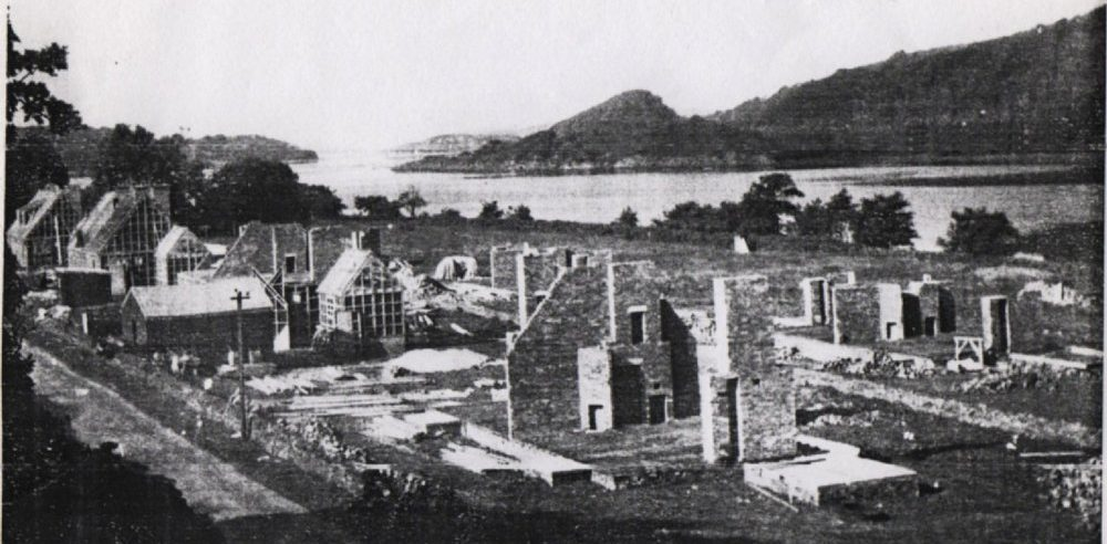 New homes being built at Achnamara, Argyll in the mid-20th Century