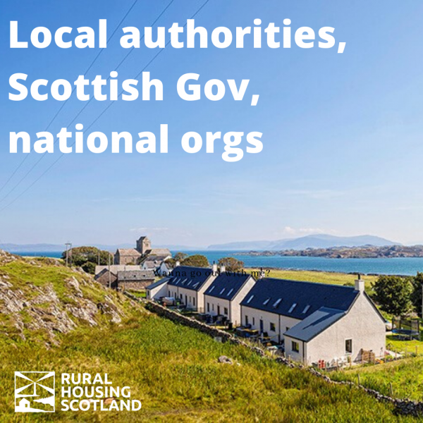 Local Authority, Scottish Givernment and national organisation tickets